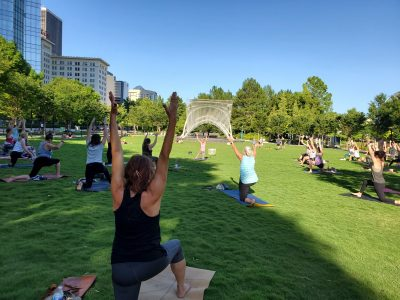 Botanical Balance Free Yoga at Myriad Gardens