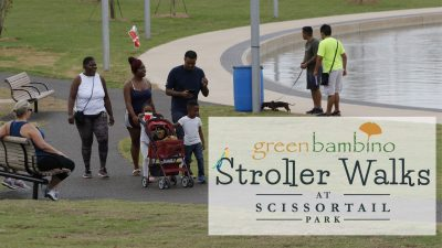 Stroller Walks with Green Bambino