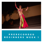 Prerecorded Bellydancing Beginners- Week 1