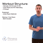 FREE Virtual HIIT and Jump Rope Combination Routine - Jump Rope and HIIT Cardio Workout