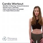 FREE Virtual 15 Minute Bodyweight Cardio Workout- Feel Good Total Body Cardio