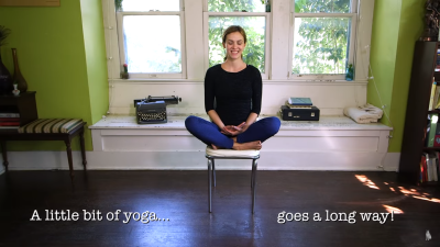 5 Minute Yoga at Your Desk with Adriene