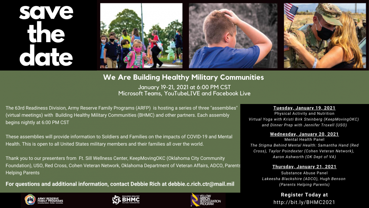 We are Building Healthy Military Communities FREE ...