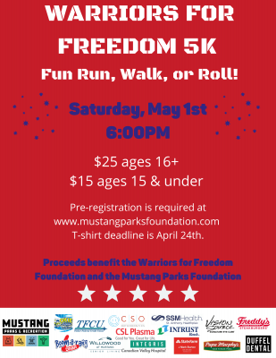 Warrior Weekend 5K, Fun Run, Walk, or Roll!