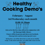 Healthy Cooking Demo's