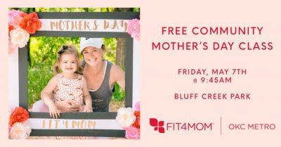 Free Mother's Day Community Fit4mom Class