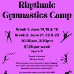 Rhythmic Gymnastics Camp