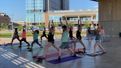 Yoga at Scissortail Park