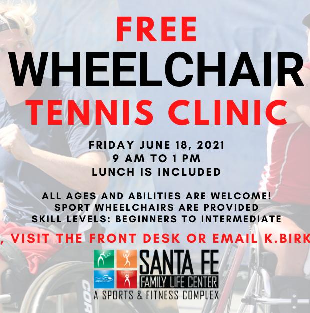 FREE Wheelchair Tennis Clinic