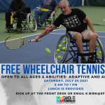 FREE Wheelchair Tennis Clinic for ALL Abilities!