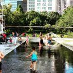 Seasonal Plaza Water Feature at Myriad Botanical Gardens